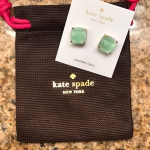 Kate Spade amazonite studs — brand new with bag